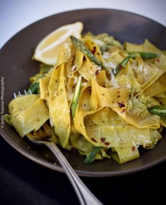Asparagus Pesto Pappardalle