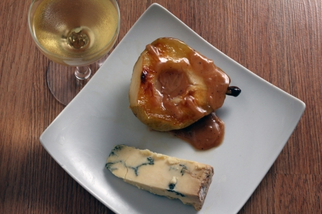 Caramelized Pear with Stilton
